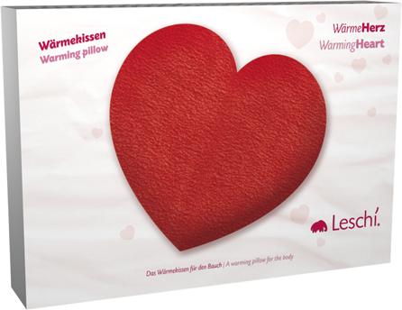 Leschi Wärmekissen lilly´s bar - leschi wärmekissen, wärmeherz 12x12cm