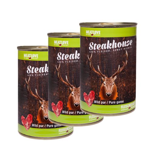 3 x 400g Steakhouse Wild pur