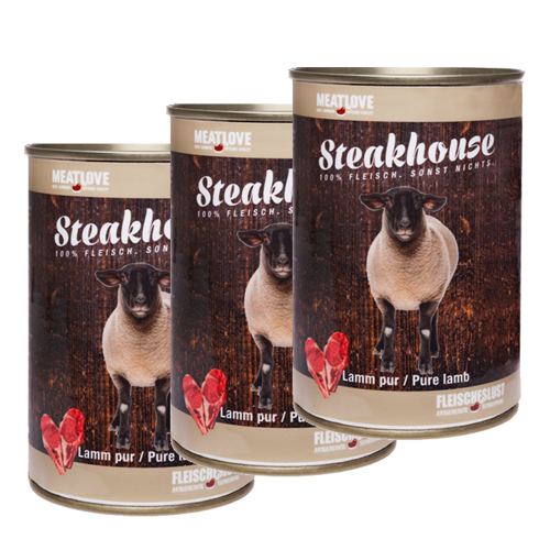 3 x 400g Steakhouse Lamm pur